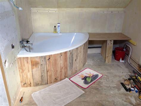 coffrage baignoire d angle meuble en bois pinterest
