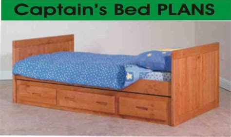 twin size captains bed plans woodworking projects plans
