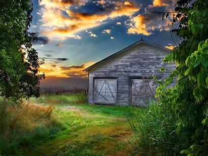 Barn Desktop Wallpapers Landscape Windows Cool Sunset