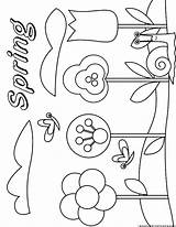 Weather Spring Coloring Symbols Template sketch template