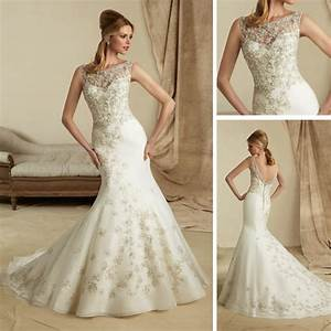 Amazing vintage lace fishtail wedding dresses ipunya for Robe de mariée dentelle dos