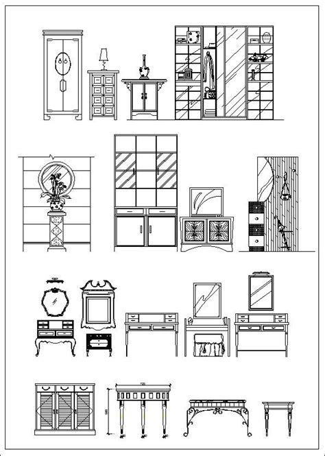 Furniture elevation ,Sofa elevation,Chair elevation