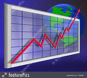 Stock Growth Chart Abstract Forms Global Economy Graph Stock Illustration