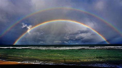 Perth Photographer Captures Beauty Double Rainbow Off