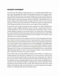 Professional Job Application Template 23 Diversity Statement Templates In Pdf Doc Free