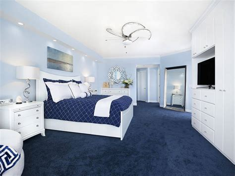 Ideas For Bedroom With Blue Carpet by 50 Blue Master Bedroom Ideas For 2019