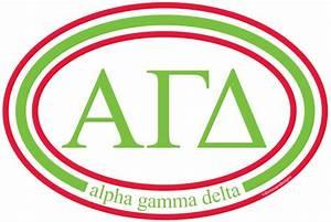 alpha gamma delta With alpha gamma delta letters