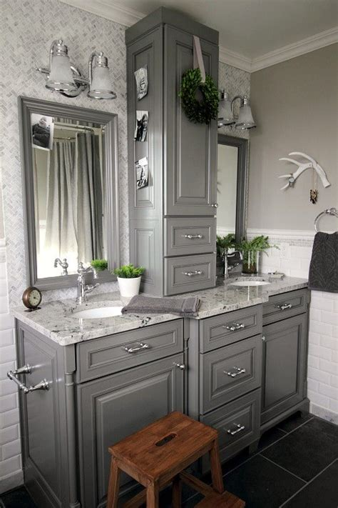 Bathroom Vanity Makeover Ideas by Before And After Grey And White Traditional Bathroom