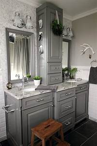Before, And, After, Grey, And, White, Traditional, Bathroom, Makeover