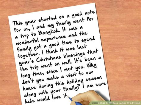 write  letter   friend  steps  pictures