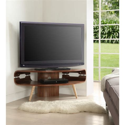 walnut retro corner tv stand furniture