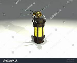Mechanical Wasp Sits Atop A Chemical Container Stock Photo ...