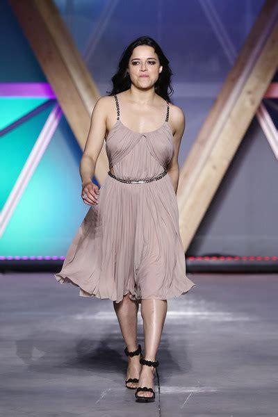 michelle rodriguez   runway fashion  relief cannes  zimbio