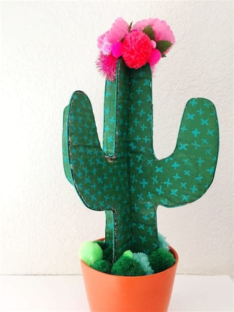 craft  easy adorable diy cardboard cactus