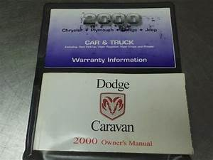 Used Owner U0026 39 S Manual For Sale For A 2000 Chrysler Town