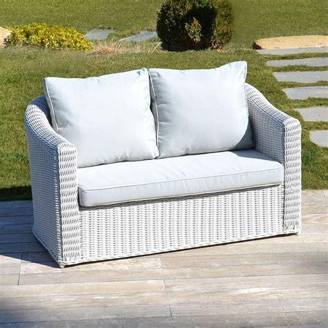 canapé à composer canapé de jardin 2 places blanc perle salon à
