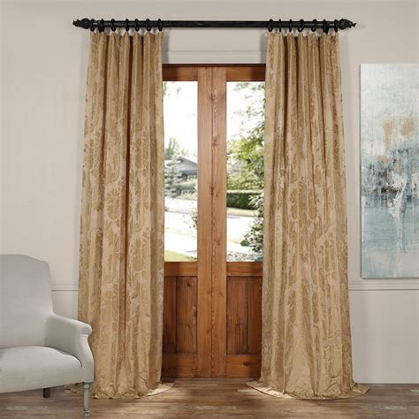 gold draperies half price drapes magdelena beige and gold 50 x 108 inch