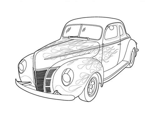 coloriage ancienne voiture tuning dessin gratuit  imprimer