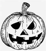 Jack Lantern Coloring Halloween Pngkey sketch template
