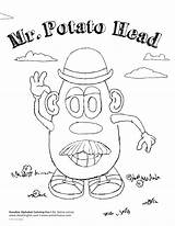 Potato Head Mr Coloring Monster Cartoon sketch template