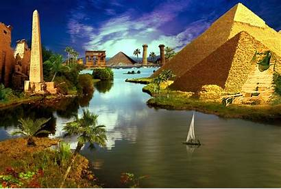 Egypt Ancient River Wallpapers Sun Nature Wallpaperaccess