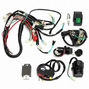 Wiring Harness Loom Start Switch Kit Pit Bike Atv 4 Go