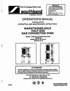 Download Southbend Convection Oven 10 Manual And User
