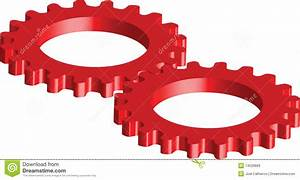 Red Gears Royalty Free Stock Images - Image: 14028869
