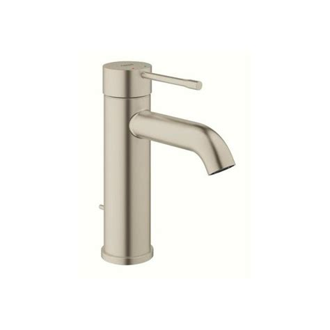 grohe bathroom faucet shop grohe essence brushed nickel 1 handle single