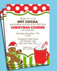 bridal tea party invitation wording christmas hot cocoa and cookies invitation printable or