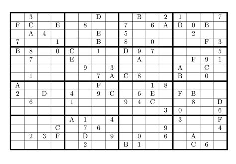 Simply download and print the pdf document. Tirpidz's Sudoku: #16 Classic sudoku 16 x 16
