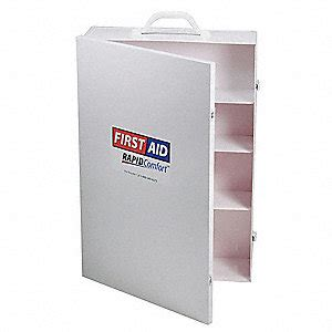 empty first aid cabinet rapid comfort empty first aid cabinet metal white 3jmf1