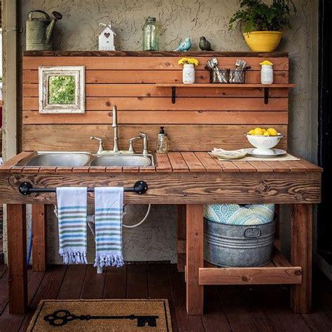 cuisine de plein air cuisine exterieure objet et meuble en palette meubles