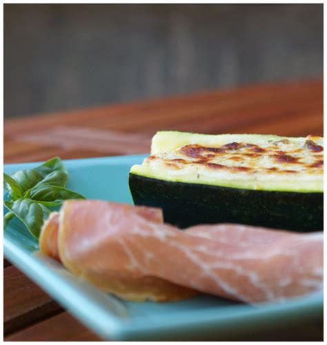 recette courgettes farcies au fromage frais  jambon de
