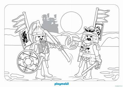 Playmobil Coloring Pages Dragon Coloriage Knights Coloriages