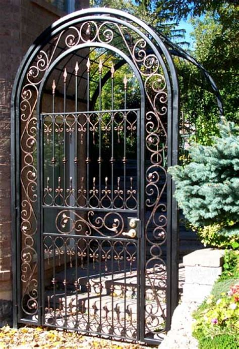 wrought iron arbor with gate wrought iron arbor with gate 1966
