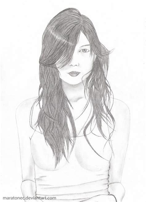 cute girl pencil drawing drawings art gallery