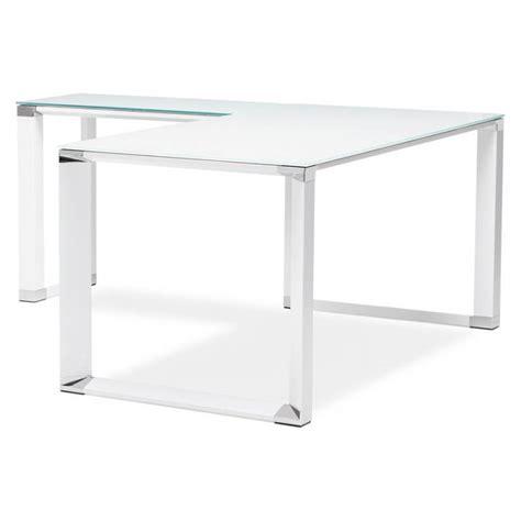 bureau d angle design bureau d 39 angle design master en verre trempé blanc