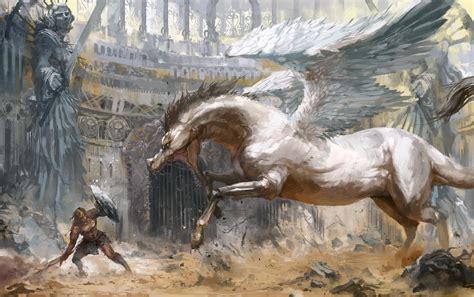 pegasus fantasy art artwork wallpapers hd desktop