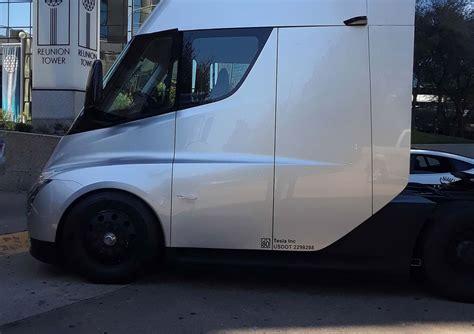 tesla showcases semi truck  pepsico employees  private