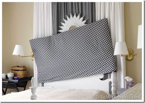how to cover a headboard easy sew reversible padded headboard cover diy