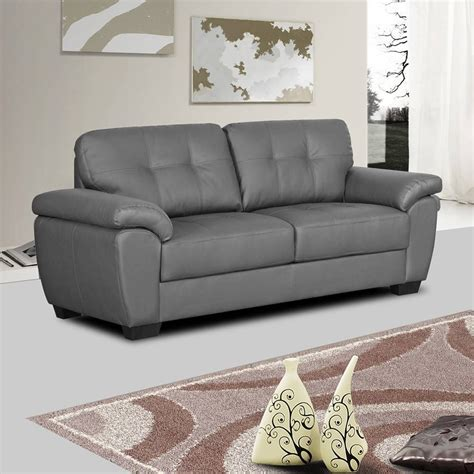 Grey Leather Settee by 15 Best Ideas Of Charcoal Grey Leather Sofas