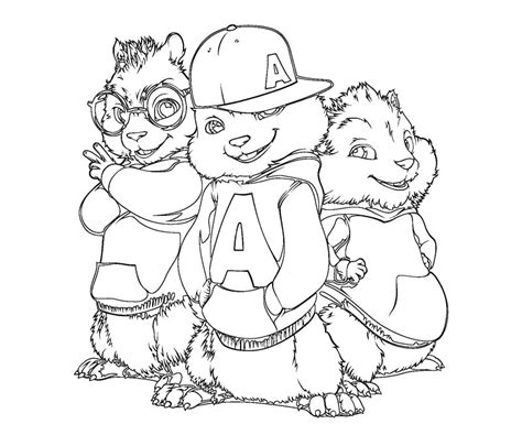 Alvin And The Chipmunk Coloring Pages Free Coloring Pages Of Les Chipettes