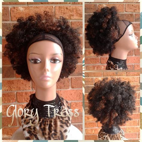 sale kinky curly afro drawstring ponytail ombre