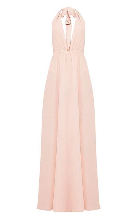Alina Nude Plunge Maxi Dress Maxi Dresses