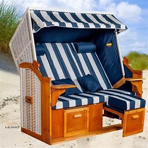 Strandkorb Xxl Volllieger : strandkorb ostsee xxl bwh polyrattan blau wei ~ Watch28wear.com Haus und Dekorationen
