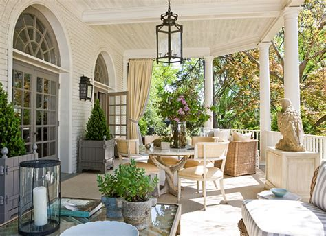 pretty porches and terraces traditional home