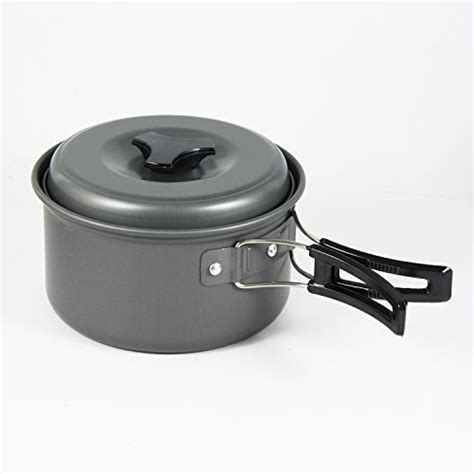 lightweight camping cooking cookware backpacking pot pan outdoor picnic bowl 11pcs pots hiking aluminum portable person ultralight anodized hard ware