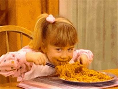 Spaghetti Michelle Tanner Gifs Eating Funny Hungry
