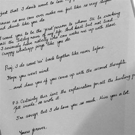 indian handwritten letter
